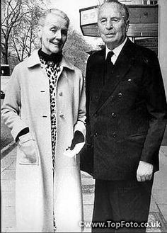 Lady Diana Mosely (Diana Mitford) with her husband Sir Oswald Mosley,  1977