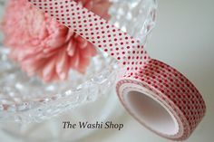 Red and Pink Polka Dots Washi Tape by TheWashiShop on Etsy, $2.50