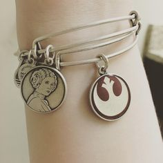 Alex And Ani x Star Wars Princess Leia and Rebel Alliance expandable charm bangle bracelets ⭐️ Star Wars fashion ⭐️ Geek Fashion ⭐️ Star Wars Style ⭐️ Geek Chic ⭐️