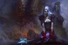 Blood of Theramore Picture  (2d, illustration, fantasy, orc, warrior)