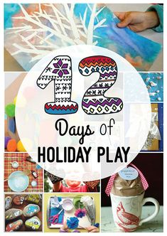 Things to Do in Winter with Kids - 12 Days of Holiday Play -- LOVE this printable eBooklet for keeping the kids busy over the holiday break!!