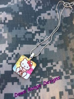 Hello Kitty Glass Tile necklace https://www.facebook.com/DownRangeDesigns    $10 including shipping