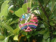 Wire wrapped rainbow gemstone Tree of Life by DragonflyHJewellery