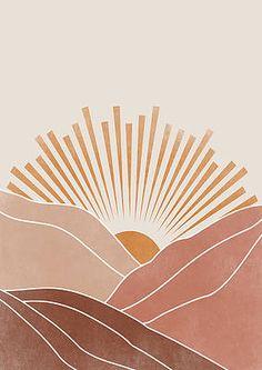 Desert Sunset by Sunny Art Prints