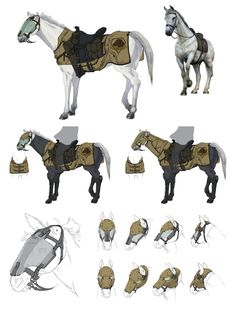 View an image titled 'D-Horse Art' in our Metal Gear Solid V art gallery featuring official character designs, concept art, and promo pictures. Robot Animal, Futuristic Armour, Horse Armor, Horse Drawings, Weapon Concept Art, Metal Gear Solid, Creature Concept, Creature Design, Mythical Creatures