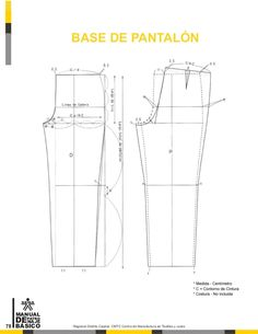 Manual de patronaje CMT - SENA Pattern Drafting Tutorials, Sewing Patterns Free, Pattern Cutting, Pattern Making, Coat Patterns, Clothing Patterns, Sewing Doll Clothes, Modelista, Jacket Pattern