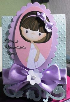 Baby Girl Baptism, Baby Shawer, Graduation Cards, First Communion, Delicate, Scrapbook, Invitations, Handmade, Crepe Paper Flowers