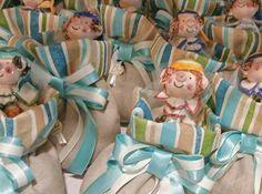 Pirata in Ceramica Personalizzata con sacchetto sea. Theme Party: Isola del tesoro - Colori predominanti V.de Tiffani