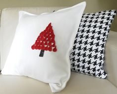 Make a Christmas pillow