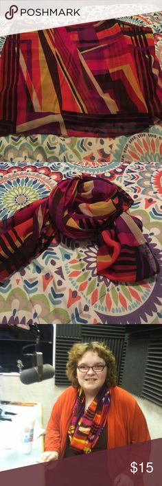 Fall Infinity Scarf! Super cute. Beautiful Fall Scarf! Only been worn once. It is an infinity scarf. Susan Graver Accessories Scarves & Wraps