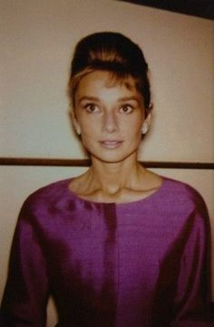 Audrey Hepburn photographed during a cocktail party in honor of the fashion…