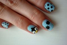 this is how I will paint my nails if I ever hav a baby shower, for a boy(: