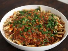 As seen on Rachael Ray's Week In A Day: Chorizo and Chickpea Sauce with Rice Pasta