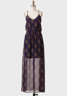 Grand Entrance Damask Maxi Dress  at #Ruche @Ruche
