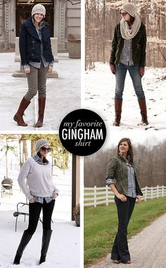 gingham2 by What I Wore, via Flickr