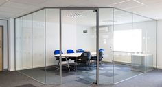 Frameless glass partitioning can be installed quietly and without  interference. The glass is tailored to suit the building so that tenancy  conditions need not be breached. The benefits are clearly and acoustically obvious, a quiet secluded well  lit space within noisy surroundings or the reverse. Documents and  discussions remain confidential. Overworked staff are happier basking in  the interest exhibited by their organization.