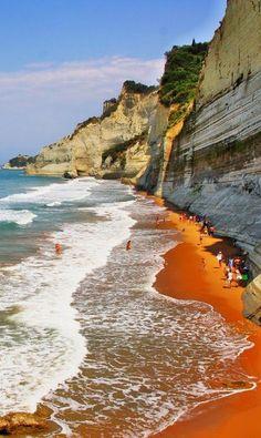 Loggas Beach, Corfu Island, Greece