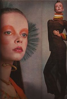 Jane Forth for Dior, Paris, 1970s. Makeup by Serge Lutens.