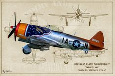Fighter Squadron Digital Art - Tarheel Hal - Oil by Tommy Anderson Ww2 Aircraft, Fighter Aircraft, Military Aircraft, Fighter Jets, Airplane Painting, American Legion Post, P 47 Thunderbolt, Military Photos, Nose Art