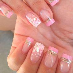 unhas na cor rosa veja alguns detalhes para se inspirar Aycrlic Nails, Coffin Nails, Manicure, Tv Decor, Shellac, Gel Nail, Shop Signs, Free Food, Nail Art Designs