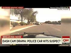 Arizona Police Car RAMS Suspect.. Police Car Hit Suspect Mario Valencia ...