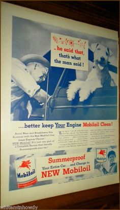 Better Keep Your Engine MobilOil Clean! w/ Airedale Terrier