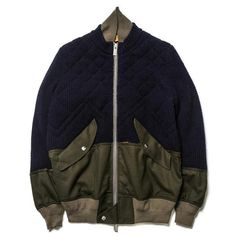 sacai Quilted Knit Blouson