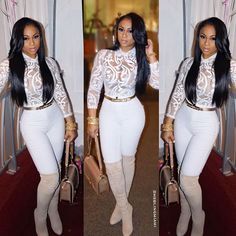 HOW TO SLAY FULLY DRESSED!Bodysuit/Jeans: @chiccoutureonline Belt/Bag: @chanelofficial Boots: ...
