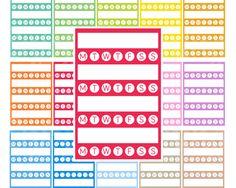 Printable Weekly Habit Sidebar Planner Stickers Sidebar Planner Sticker Erin…