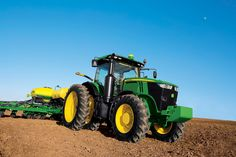 New John Deere Tractors | ... in the 7r tractors provide excellent visibility and comfort for
