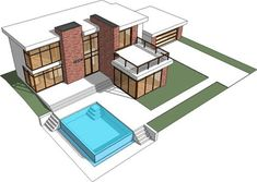 Minecraft Blueprints | View Source | More Modern Minecraft House Blueprints