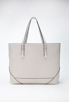 Oversized Faux Leather Tote   FOREVER21 - 1000056001