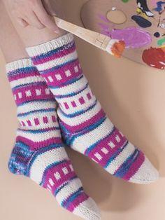 Kevätpusu-villasukat Knitting Socks, Knit Socks, Mittens, Blogg, Knits, Sew, Life, Fashion, Kid