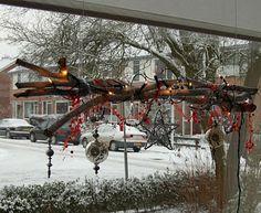 Connie's scraphoek: raamdecoratie voor kerst