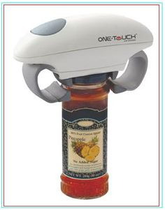 Automatic Jar Opener This is an electric jar opener for the elderly or disabled with inadequate hand strength or function. This device will open the jar with one click of the button. It can be used for all sizes and types of jars and is relatively light weight and does not consume much space. The price of this device is $60