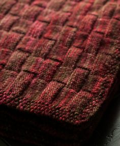 Ravelry: Cozy basket-weave textured blanket pattern by Stacey Cilia