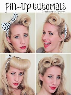 Retro Glam Curls and some Pin Up Hair Tutorials