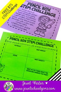 FREE BACK TO SCHOOL STEM CHALLENGE | Looking for a free back to school STEM activity to try with your elementary students? Download this FREE, FUN, AND AWESOME STEM resource for kids from Jewel's School Gems today!