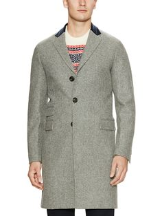 GANT by Michael Bastian. Wool topcoat with elbow patches. $469