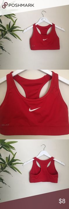 Nike Sports Bra. This sports bra is super cute wore once because it was super tight on me, so that's why I'm selling it to you ! Nike Tops