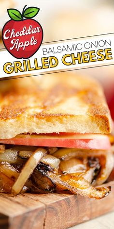 This Apple Balsamic Onion Grilled Cheese sandwich is a quick and easy meal bursting with amazing flavors. Sweet balsamic onions pair with crispy sweet apples and melted cheddar cheese for a vegetarian recipe that is filling and delicious. Perfect Grilled Cheese, Grilled Cheese Recipes, Meatless Recipes, Healthy Recipes, Balsamic Onions, Apples And Cheese, Slice Of Bread, Melted Cheese, Cheddar Cheese