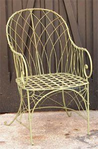 Painted iron chair