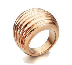 Anillo de Plata de 1ª Ley Recubierta de Oro de 18kt Rosa #joyería #anillo #plata #jewelry #ring #silver