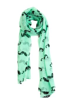 Baron Moustache Mint Scarf // Warm up in this hip and cool printed moustache scarf! Mint Scarf, Rent Clothes, Cool Outfits, Casual Outfits, Cute Scarfs, Cozy Scarf, Stylish Eve, Love Clothing, Outfit Maker