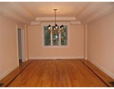 Tray ceiling, crown molding and custom hardwood floors Custom interiors, J.R. Trubia Construction