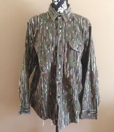 Vintage Flannel/ Real Tree Camo/ Button Down/ Camouflage Shirt/ Camouflage/ 90s Flannel/ Camo Shirt/ Hunter/ PNW/ Vintage Flannel Shirt by PioneerThrift on Etsy