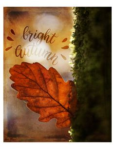 Fall Autumn Poster Original Graphic Art - Bright Autumn 8x10 - Instant Download by PixelBlissDesigns on Etsy