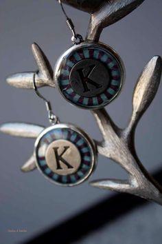 letter K earrings