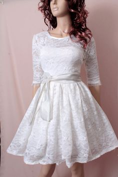 White  Bridesmaid   lace / wedding party    by UpToDateFashion, $57.99