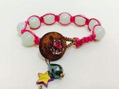 Pulsera de Fasna con cuentas de jade y detalles en madera, acerina y cristal! Bracelet bijou jewelry accessories brecelets accesorios de moda fashion style